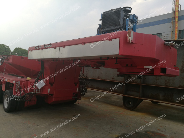 gooseneck for hydraulic modular trailer