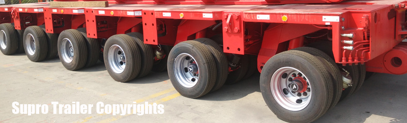 multi axle hydraulic modular trailer