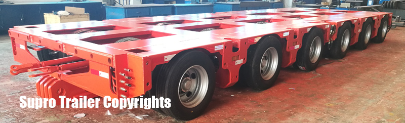 China hydraulic modular trailer