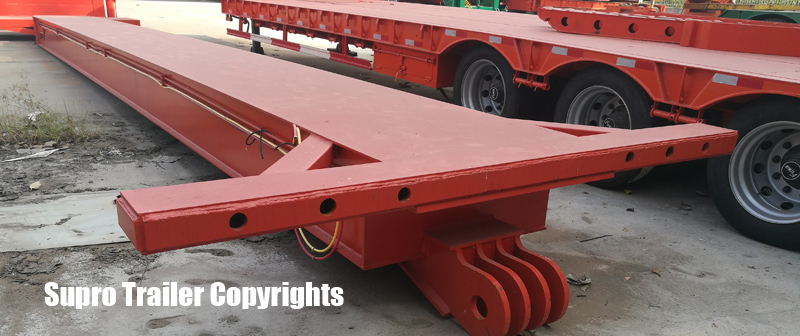 Extendable hydraulic modular trailer