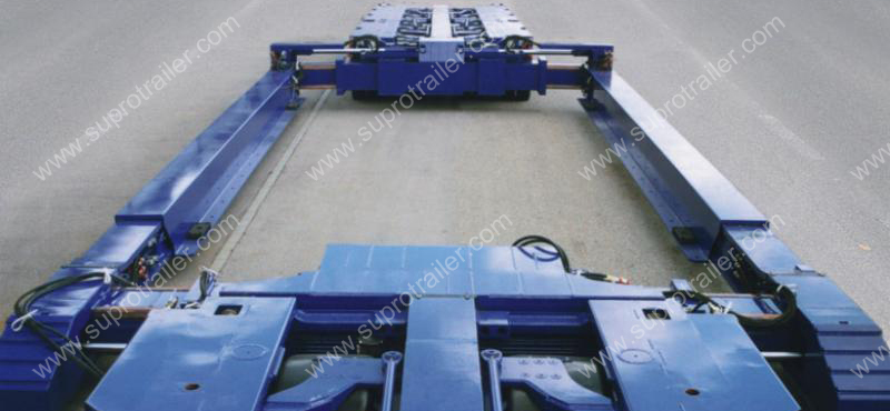 Extendable drop deck bed for Hydraulic modular trailer