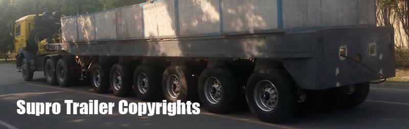 Supro CE hydraulic platform trailer
