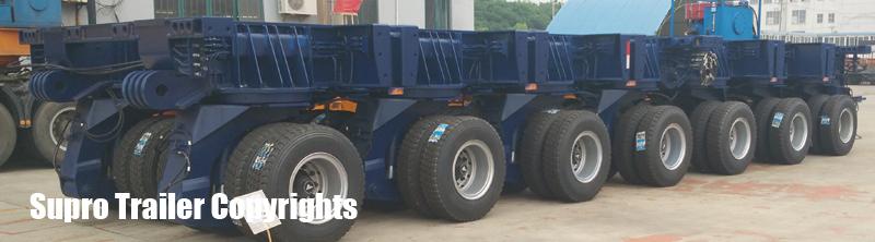 supro hydraulic modular trailer