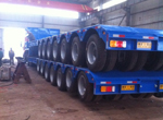 7 Axle Lines Low Bed Trailer for Congo