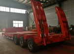 3 lines 6 axles low bed trailer