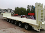 6 Axles Automatic Steering Low Bed Trailer for Russia