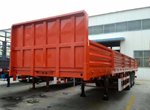 3 axles drop side trailer