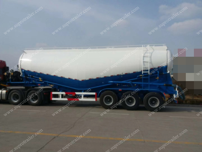 Cement tank semi trailer