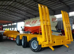 3 axles Low bed trailer for Bolivia