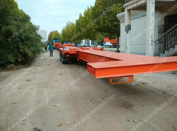 multi axle extendable trailer