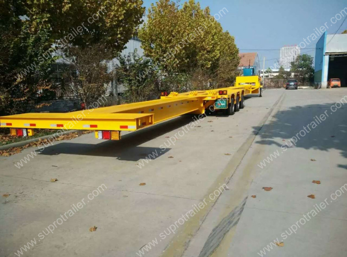 multi axle extendable hydraulic trailer