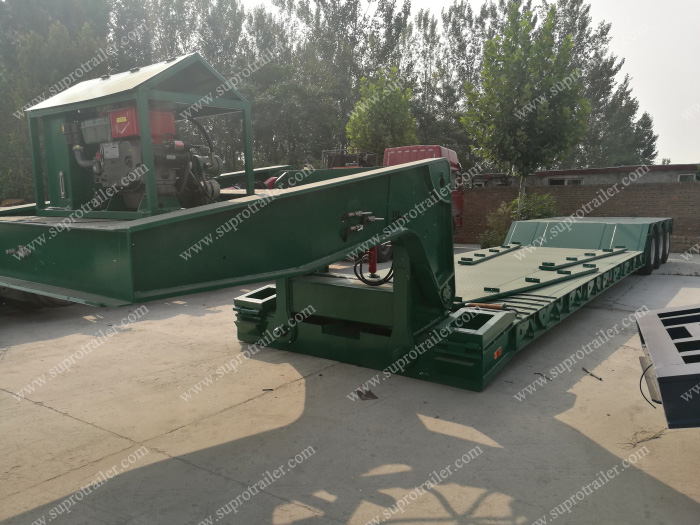 detachable gooseneck low bed trailer
