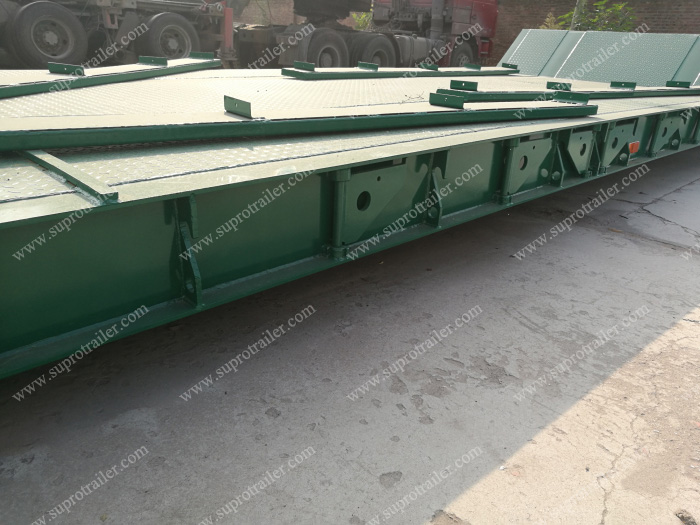 hydraulic gooseneck low bed trailer