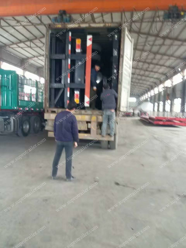 side loader container trailer