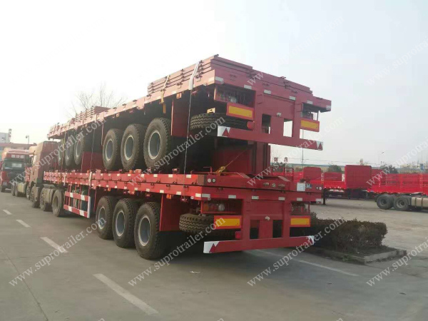 extendable container trailer