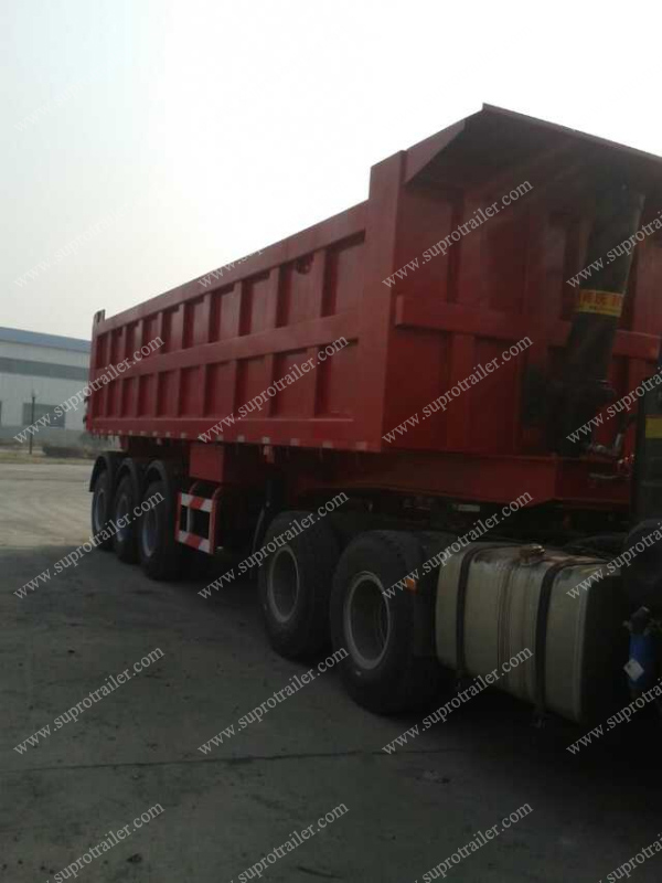 rear tipper container trailer