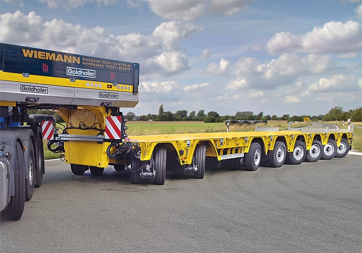What is Goldhofer Transporter? 5 axle Supro THP/SL
