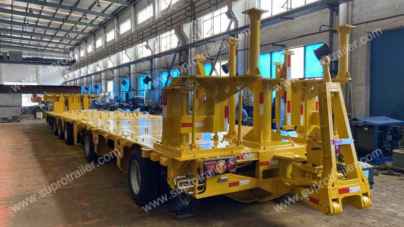 mobile transformer substation hydraulic modular trailer