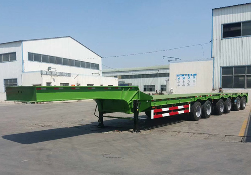 Multi- Pneumatic Steering Axle Low Bed Trailer