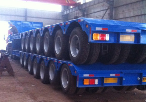 Jack Up Hydraulic Suspension - Multi Axles Low Bed Trailer