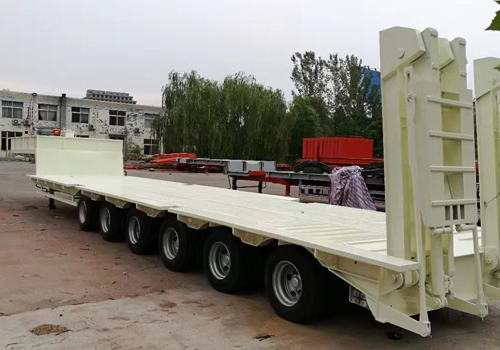Manual Steering Mode of 6 Axles Low Bed Trailer