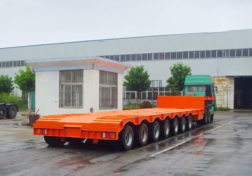 Following Truck Automatic Steering - 7 Axles Low Bed Trailer