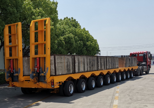 (ST10AE) 10 Axles Air Supsension Extendable Low Bed Trailer