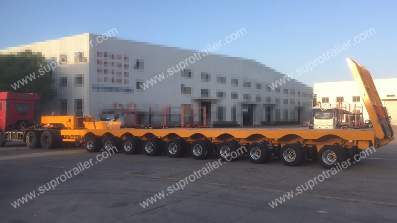 10 axles multi axles low bed trailer