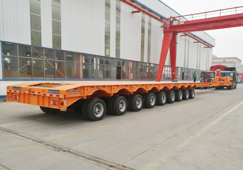 (ST9HE) 9 Axles Hydraulic Suspension Extendable Low Bed Trailer
