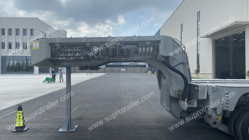 electric gooseneck of customizedhydraulic modular trailer