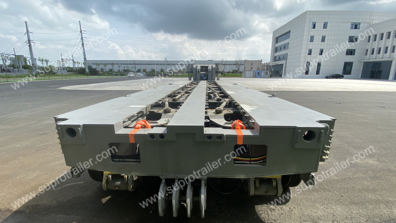 combination dimension of customized hydraulic modular trailer
