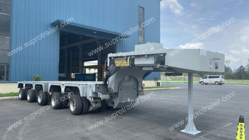 customized hydraulic modular trailer