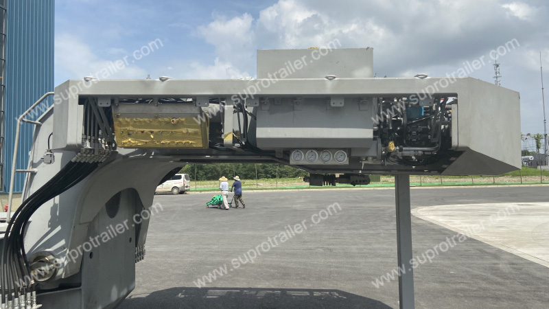 electric gooseneck of customized hydraulic modular trailer